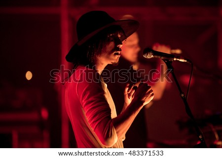 MADRID - SEP 10: Jungle (modern soul band) perform in concert at Dcode Music Festival on September 10, 2016 in Madrid, Spain.