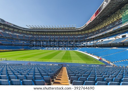 MADRID,SPAIN - CIRCA MARCH 2016: at Santiago Bernabeu stadium - the official playground of FC Real Madrid