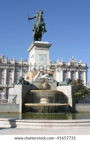 Madrid, Spain, front of Royal Palace