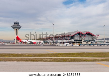 Madrid spain jan 26 2015 terminal stock photo 248351353 - Terminal ejecutiva barajas ...
