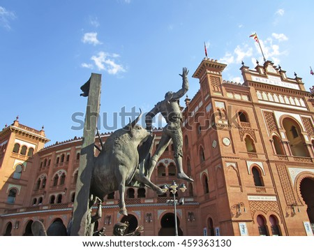 MADRID, SPAIN - JULY 27: Plaza de Toros de Las Ventas on July 27, 2016 in Madrid, Spain.