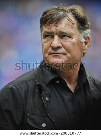 MADRID, SPAIN - June 14th, 2015 : portrait of JOSE ANTONIO CAMACHO former legendary player of Real Madrid and ex coach of Spain National team during Real Madrid vs Liverpool Legends match