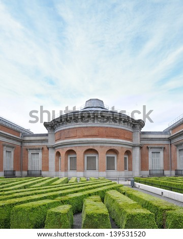MADRID, SPAIN - MAY 21:  National Art Museum Prado designed on the orders of Charles III  in 1785 by architect Juan de Villanueva has more than 2.7 millions visitors annually. Madrid May 21, 2013. - stock photo