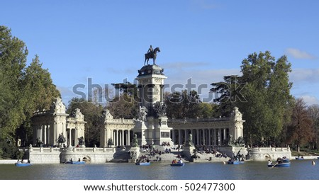MADRID, SPAIN - NOV 02, 2012 - view of retiro alfonso in madrid, spain