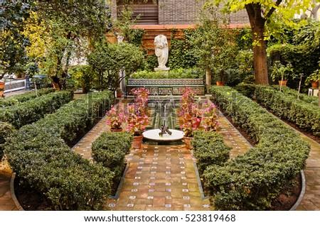 Awesome Madrid, Spain   November 24, 2016: Gardens Of Sorolla Museum In Madrid,
