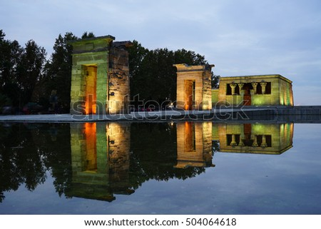 madrid spain october the temple of debod spanish