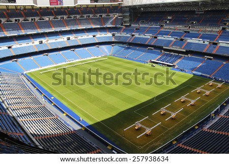 MADRID, SPAIN - SEPTEMBER 18: The home stadium of the royal club Real Madrid - Santiago Bernabeu
