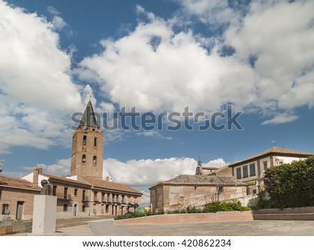 MADRIGAL - MAY 15 : Historic district  on May 15, 2016 in Madrigal, Avila province, Spain. In this village born Isabel The Qeen.