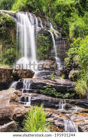Mae-klang waterfall in Doi Inthanon national park, Chiang Mai province, Thailand - stock photo