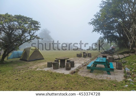 MAE WONG, THAILAND - JULY 1, 2016 : Chong Yen a beautiful tent camping area in Mae Wong National Park, Thailand