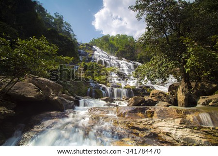 Mae-Ya Waterfall in Chiang Mai Thailand