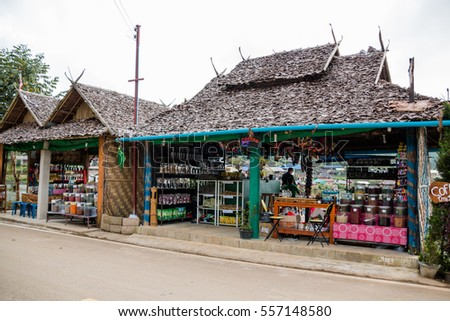 Maehongson, Thailand - Oct 3 2016 : Rak Thai Village on Oct 3, 2016 in Maehongson, Thailand