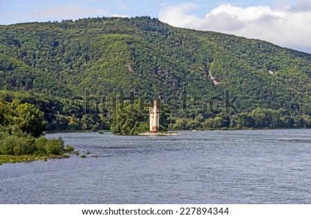 Maeuseturm in Bingen, Germany Rhine valley - stock photo