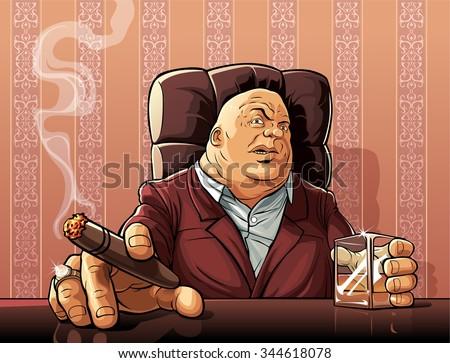 Mafia boss  Boss of a mafia clan.  - stock photo