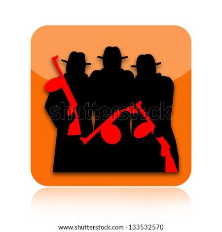 Mafia icon - stock photo