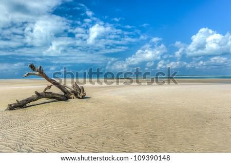 Magaruque Island, formerly Ilha Santa Isabel, is part of the Bazaruto Archipelago, off the coast of Mozambique. - stock photo