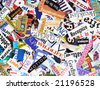 Magazine Clipping Background - stock photo