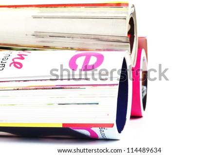 magazine on white background - stock photo