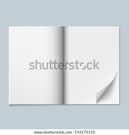 Magazine template with blank pages. Raster version - stock photo