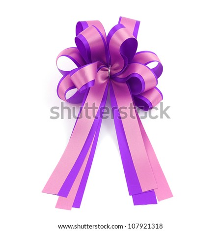 magenta and violet gift bow