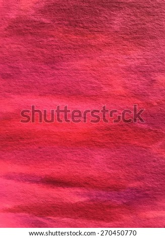 Magenta Hot Pink Raspberry Red Watercolor Paper Background Texture Pattern Overlay - stock photo