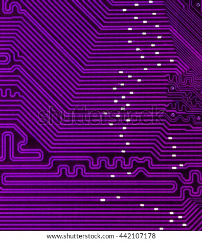magenta pcb board integrated circuit electric computer parts abstract background  - stock photo
