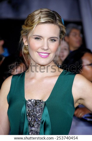 "Maggie Grace at the Los Angeles Premiere of ""The Twilight Saga: Breaking Dawn - Part 2"" held at the Nokia L.A. Live Theatre in Los Angeles, California, United States on November 12, 2012. - stock photo"