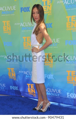 Maggie Q arrives at the 2011 Teen Choice Awards at the Gibson Amphitheatre, Universal Studios, Hollywood. August 7, 2011  Los Angeles, CA Picture: Paul Smith / Featureflash