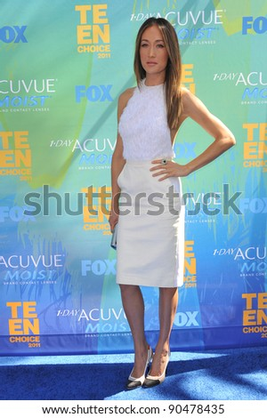Maggie Q at the 2011 Teen Choice Awards at the Gibson Amphitheatre, Universal Studios, Hollywood. August 7, 2011  Los Angeles, CA Picture: Paul Smith / Featureflash