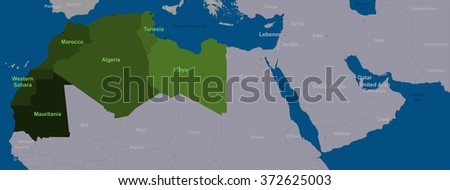 Maghreb states and neighboring North Africa