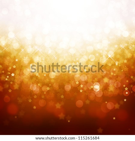Magic abstract background with defocused lights and stars - stock photo
