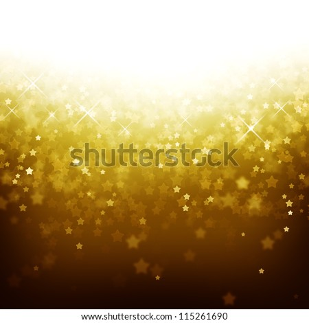 Magic abstract background with defocused lights and stars