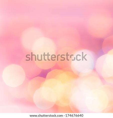 Magic background with colorful bokeh. Festive background with natural bokeh and bright golden lights.  Summer, Christmas, New Year, disco, party background.  - stock photo
