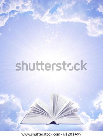 Magic book - stock photo