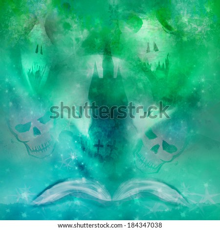 magic book with ghost stories