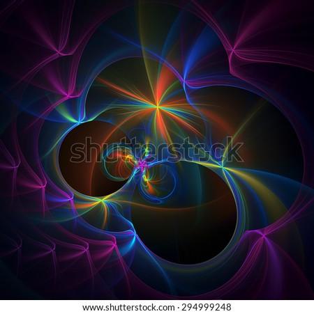Magic Christmas Lights abstract illustration - stock photo