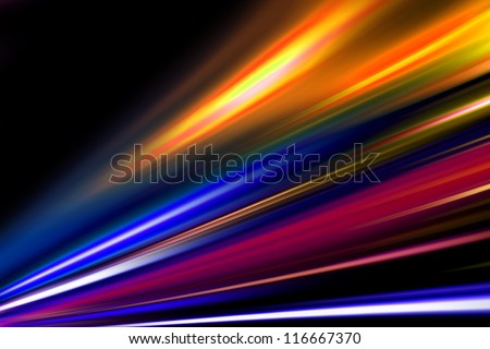 magic color night street - stock photo