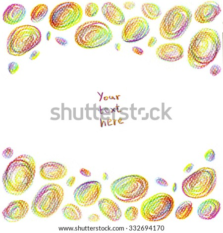 Magic crayon background simple friendly design stock illustration simple friendly design for beautiful invitations greeting cards web sites m4hsunfo