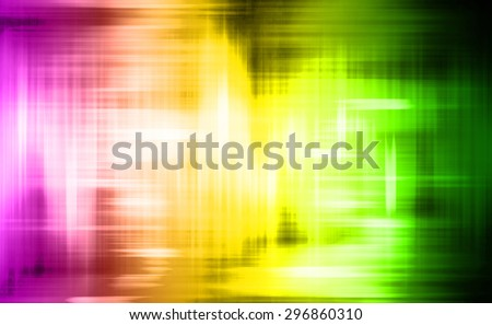 magic glow purple yellow green light, modern Abstract pattern technology background. motion move blur. ray. beam. aura. dark. old. dirty, filthy, unsanitary, unclean. grunge. wave - stock photo