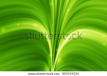 magic green curve abstract background
