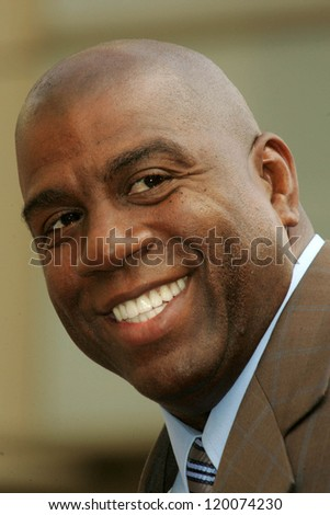 Magic Johnson at the Ceremony Honoring Los Angeles Lakers Owner Jerry Buss with the 2,323rd star on the Hollywood Walk of Fame. Hollywood Boulevard, Hollywood, CA. 10-30-06