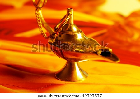Magic lamp - stock photo