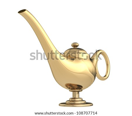 magic lamp on a white background