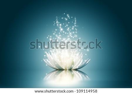 Magic Lotus flower - stock photo