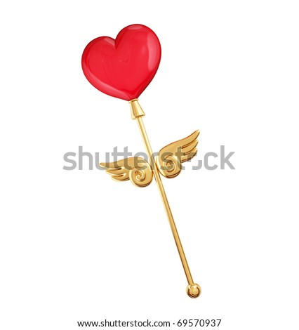 Magic love concept. Isolated on white background. 3d rendered. - stock photo