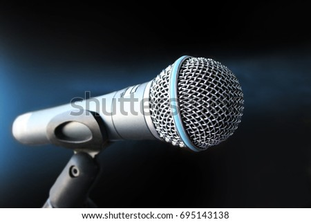 Magic Mic on emty background