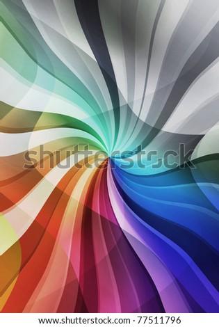 magic multicolored sunbeam background - stock photo