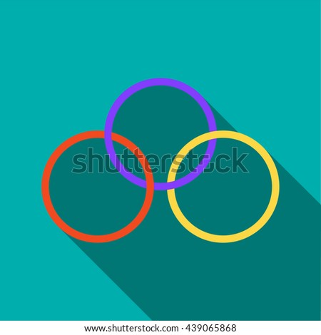 Magic rings icon in flat style - stock photo