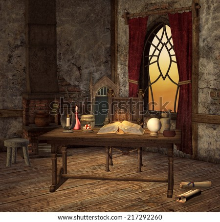 Magic room - stock photo