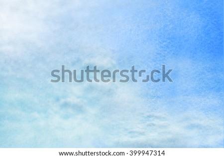 Magic sky background. Watercolor - stock photo